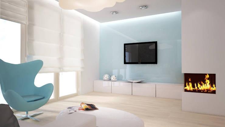 Living room by 3miasto design