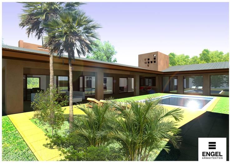 CASA DA: Jardines de estilo  por ENGEL arquitectos