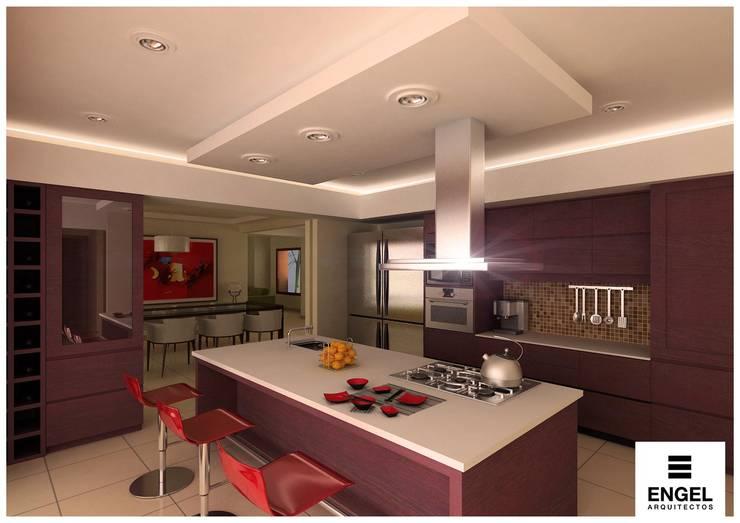 CASA DA: Cocinas de estilo  por ENGEL arquitectos