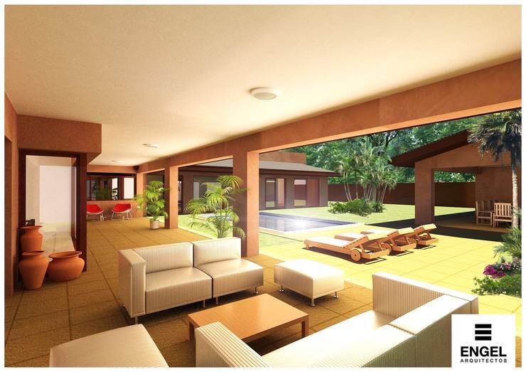 CASA DA: Terrazas de estilo  por ENGEL arquitectos