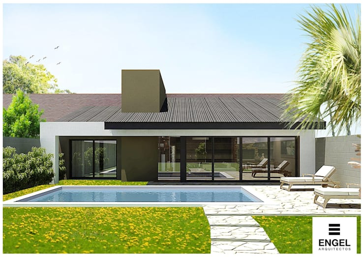 Casa – Quincho:  de estilo  por ENGEL arquitectos