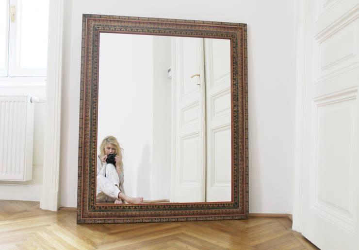 lustro: styl , w kategorii Salon zaprojektowany przez szaro-biało,