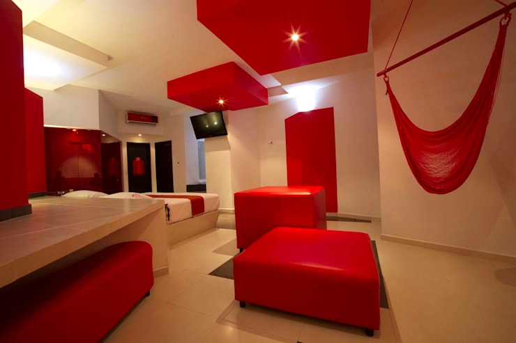 Hotel Dulce Boca : Recámaras de estilo  por DIN Interiorismo