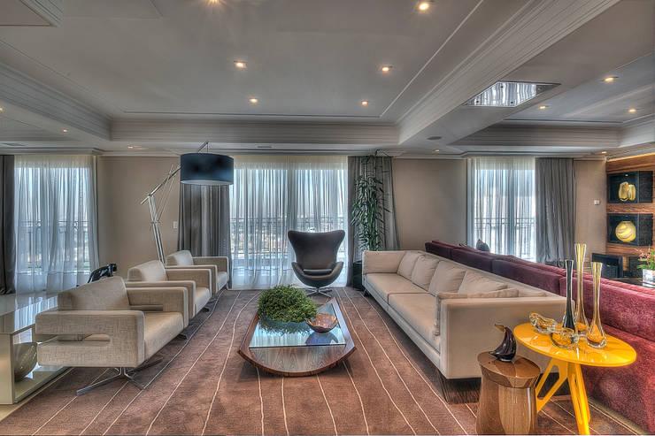 Apartamento Residencial APA: Salas de estar modernas por Pauline Kubiak Arquitetura