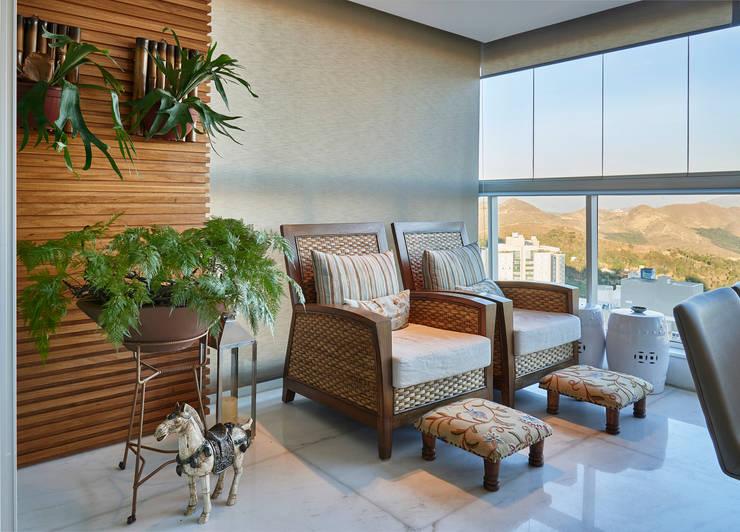 Patios & Decks by Juliana Goulart Arquitetura e Design de Interiores, Rustic