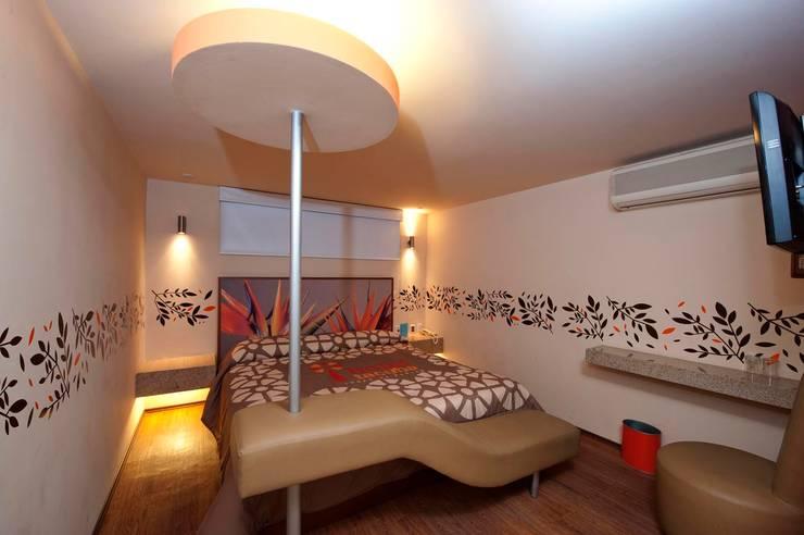 Hotel Tacuba Dormitorios modernos de DIN Interiorismo Moderno