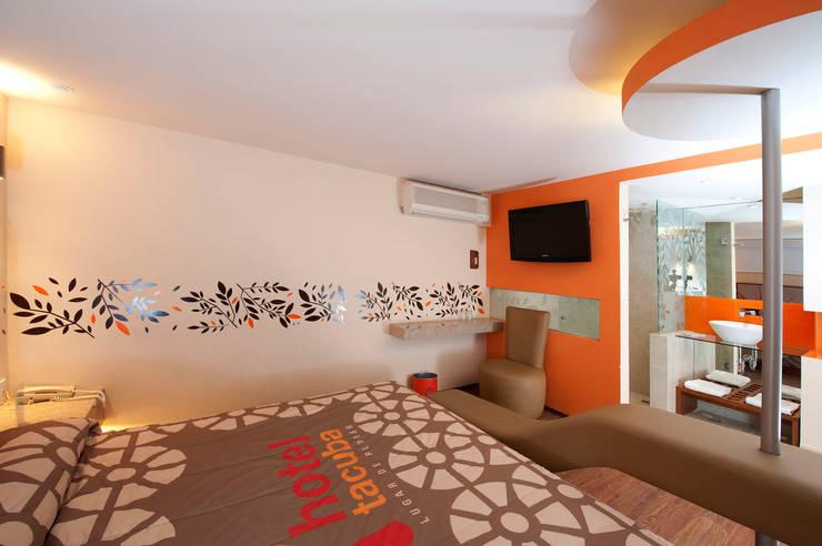 Hotel Tacuba : Recámaras de estilo  por DIN Interiorismo