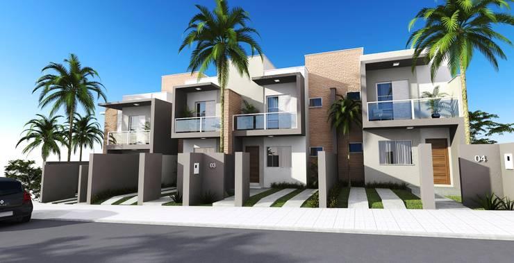 COLINAS 3: Casas  por valente arquitetura e construção