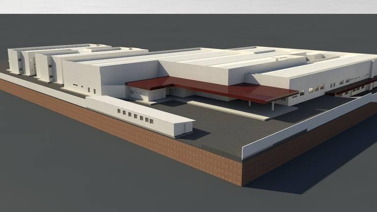 Vista Aérea: Hospitais  por Habitat Arquitetos