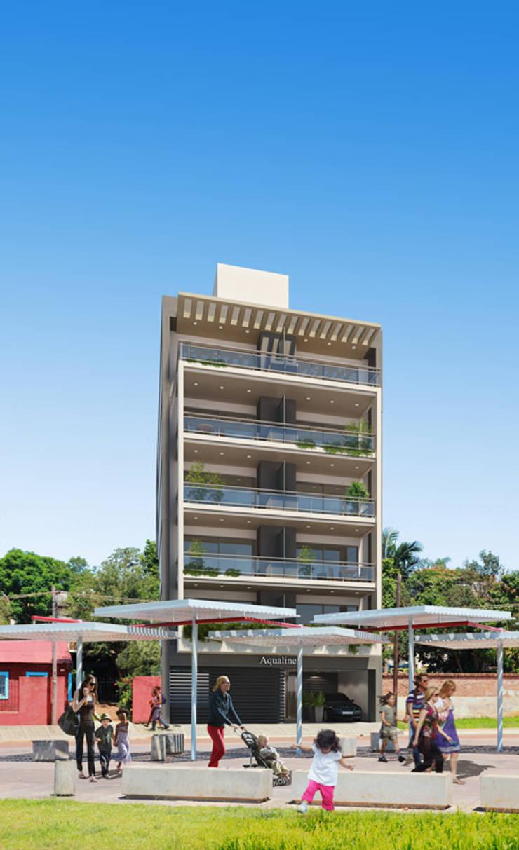 Edificio AQUALINE: Casas de estilo  por ENGEL arquitectos,
