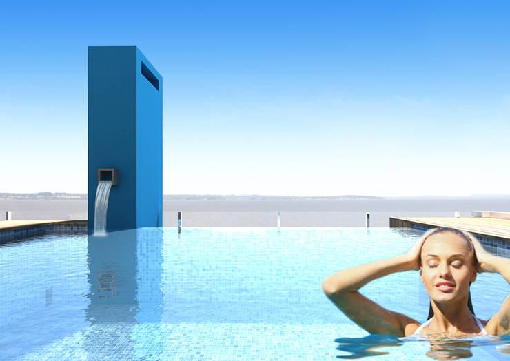 Edificio AQUALINE: Piletas de estilo  por ENGEL arquitectos,