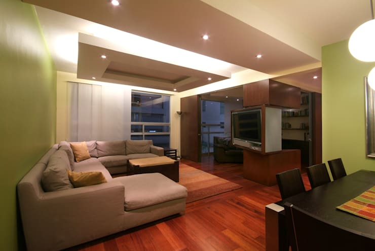 Departamento Viniegra: Salas de estilo  por DIN Interiorismo