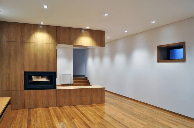 Projekty,  Salon zaprojektowane przez INSIDE arquitectura+design