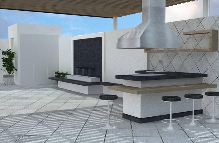 PROYECTO DE REMODELACION TRES ARROYOS: Jardines de estilo  por A-labastrum   arquitectos