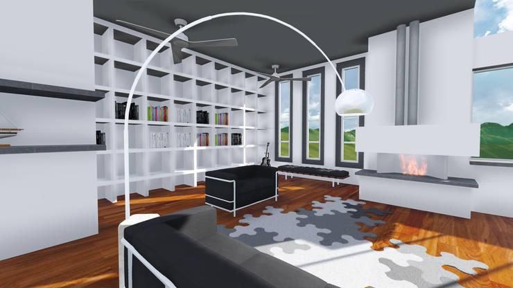PROYECTO DE REMODELACION TRES ARROYOS: Salas de estilo  por A-labastrum   arquitectos