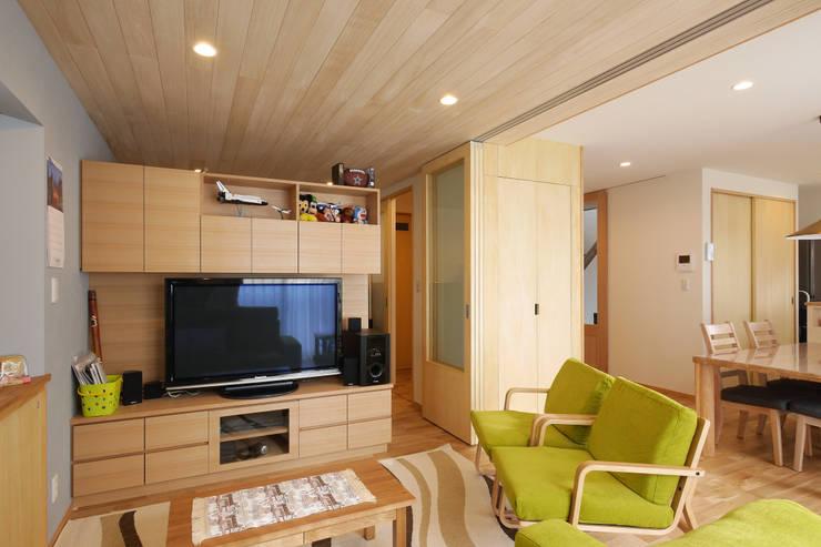 リビング: 池田デザイン室(一級建築士事務所)が手掛けたです。