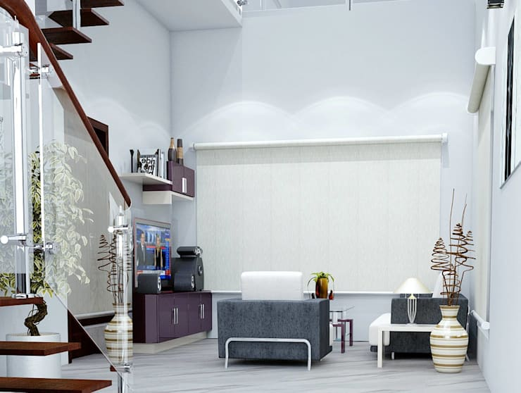 Living Area:  Living room by I Nova Infra