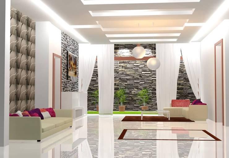 Living Area: modern Living room by I Nova Infra