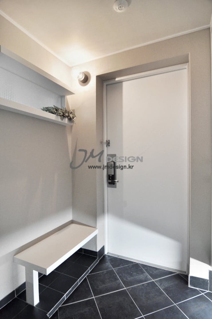 평촌현대홈타운33평 : JMdesign 의  서재 & 사무실
