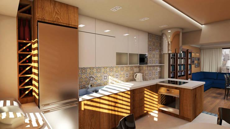 Kuchnia: styl , w kategorii  zaprojektowany przez Katarzyna Wnęk