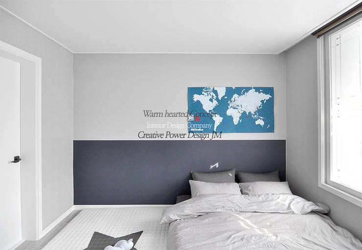 수원 정자동 한라비발디 27평: JMdesign 의  침실