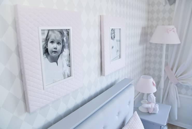 Pikowane ramki pudrowe: styl , w kategorii Pokój dziecięcy zaprojektowany przez Caramella