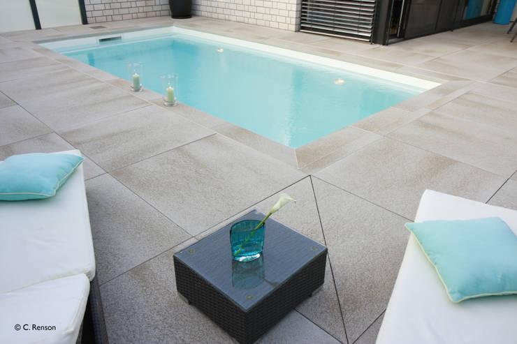 Liegen am Pool:  Pool von dirlenbach - garten mit stil,Modern