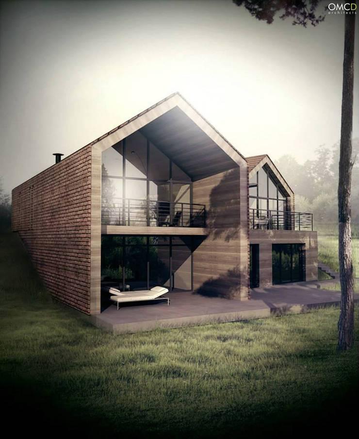 Single Family House: styl , w kategorii Domy zaprojektowany przez OMCD Architects