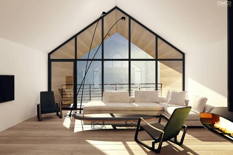 Single Family House: styl , w kategorii Salon zaprojektowany przez OMCD Architects