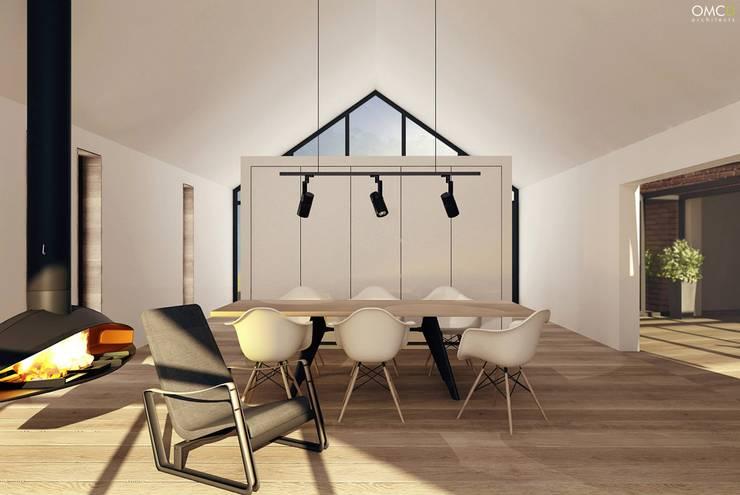 Single Family House: styl , w kategorii Jadalnia zaprojektowany przez OMCD Architects