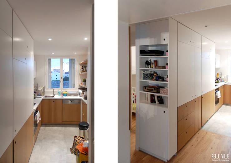 Cocinas de estilo  de Belle Ville Atelier d'Architecture