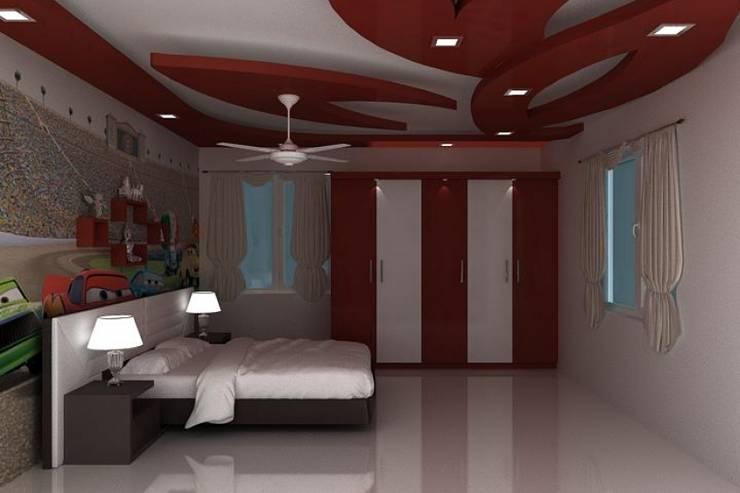 False Ceilings: modern Bedroom by Splendid Interior & Designers Pvt.Ltd