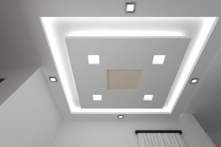 False Ceilings: modern Living room by Splendid Interior & Designers Pvt.Ltd
