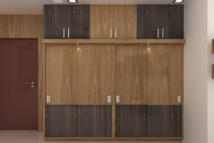 Wardrobes:  Bedroom by Splendid Interior & Designers Pvt.Ltd