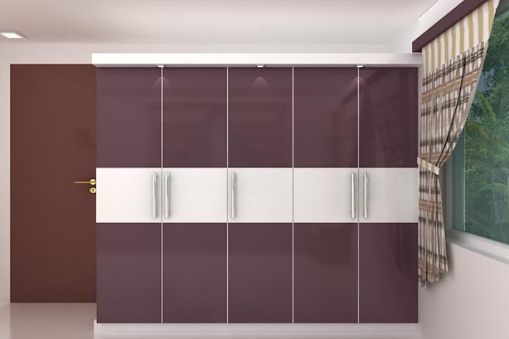Wardrobes: modern Bedroom by Splendid Interior & Designers Pvt.Ltd