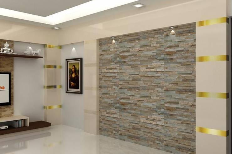 Living Area: modern Living room by Splendid Interior & Designers Pvt.Ltd
