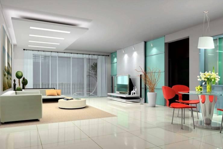 Living Area:  Living room by Splendid Interior & Designers Pvt.Ltd