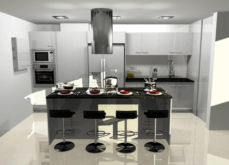 COCINA COMBINADA: Cocinas de estilo  por ARCE FLORIDA