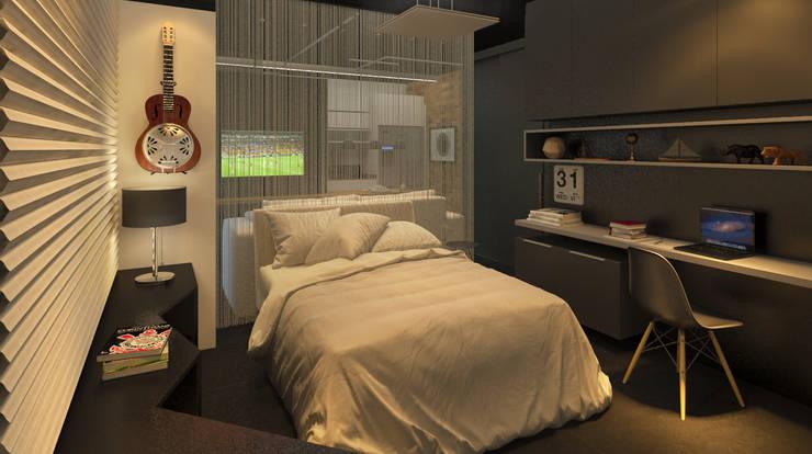 Chambre de style  par Eduardo Novaes Arquitetura e Urbanismo Ltda.,