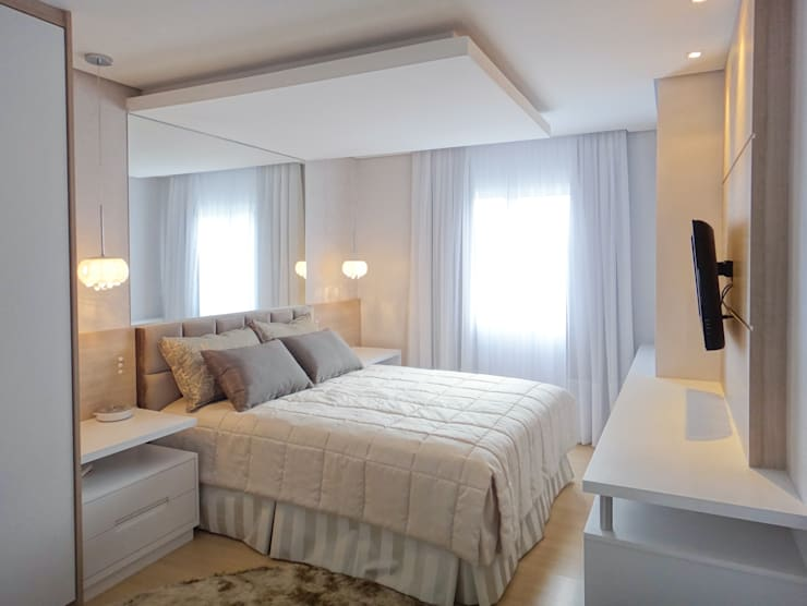 Dormitorios de estilo  por Luciana Ribeiro Arquitetura