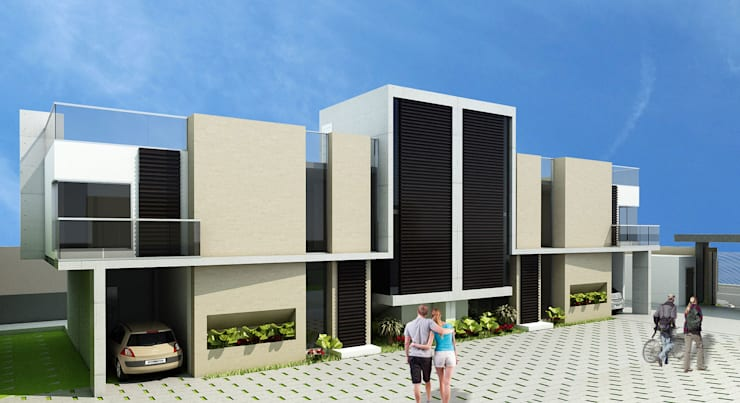 Jade Village: Casas de estilo  por NOGARQ C.A.