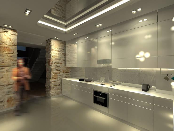 Dom w Mirowie. Kuchnia.: styl , w kategorii  zaprojektowany przez Scope Interior Design Piotr Skorupa