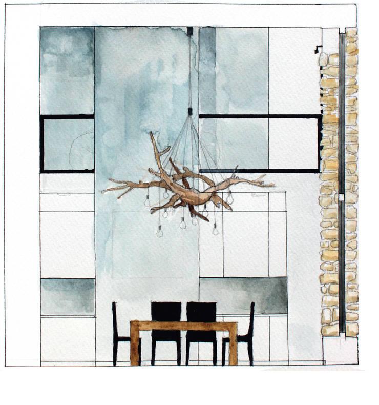 Dom w Mirowie. Widok jadalni.: styl , w kategorii  zaprojektowany przez Scope Interior Design Piotr Skorupa