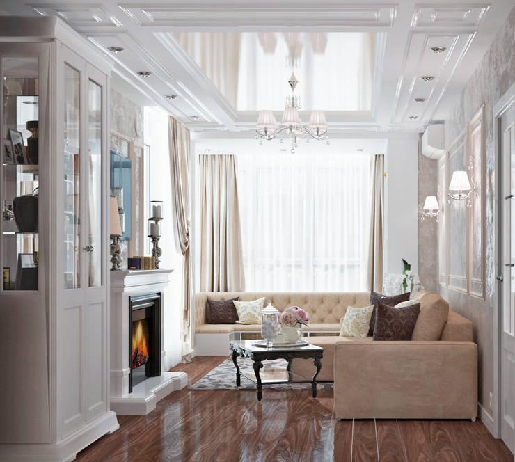 Уютная гостиная в неоклассическом стиле: Гостиная в . Автор – Студия дизайна Interior Design IDEAS