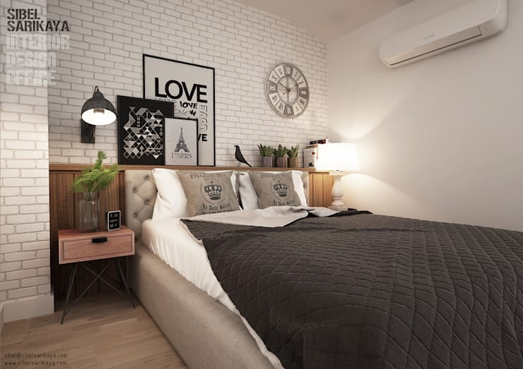 Cuartos de estilo  por SIBEL SARIKAYA INTERIOR DESIGN OFFICE