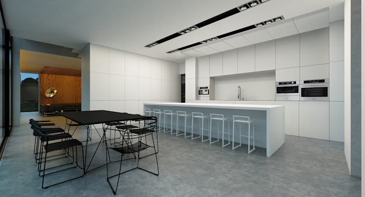House 96: Кухни в . Автор – ALEXANDER ZHIDKOV ARCHITECT