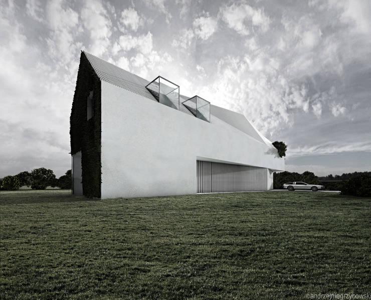 Dom biały: styl , w kategorii  zaprojektowany przez RTP Consulting Sp. z o.o.