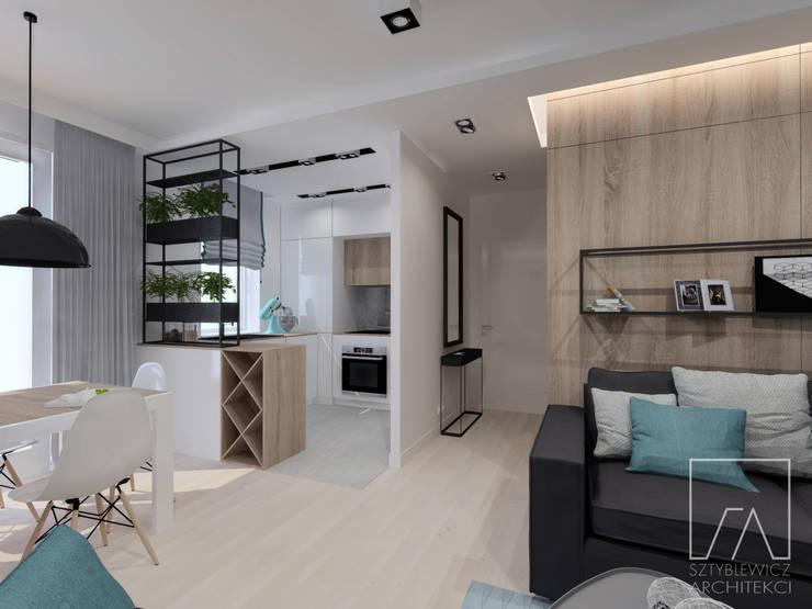 Mieszkanie Warszawa Wola: styl , w kategorii Jadalnia zaprojektowany przez SZTYBLEWICZ ARCHITEKCI