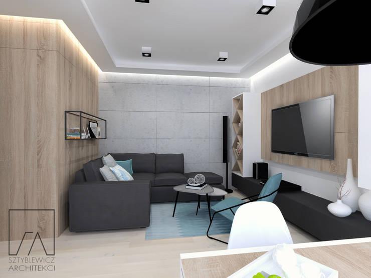 Mieszkanie Warszawa Wola: styl , w kategorii Salon zaprojektowany przez SZTYBLEWICZ ARCHITEKCI