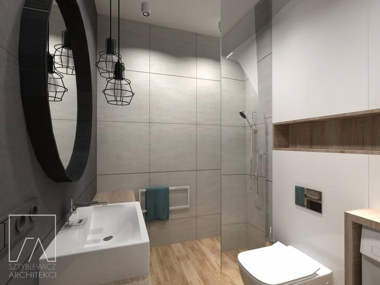 Mieszkanie Warszawa Wola: styl , w kategorii Łazienka zaprojektowany przez SZTYBLEWICZ ARCHITEKCI